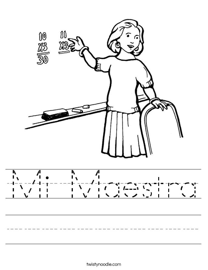 Mi Maestra Worksheet
