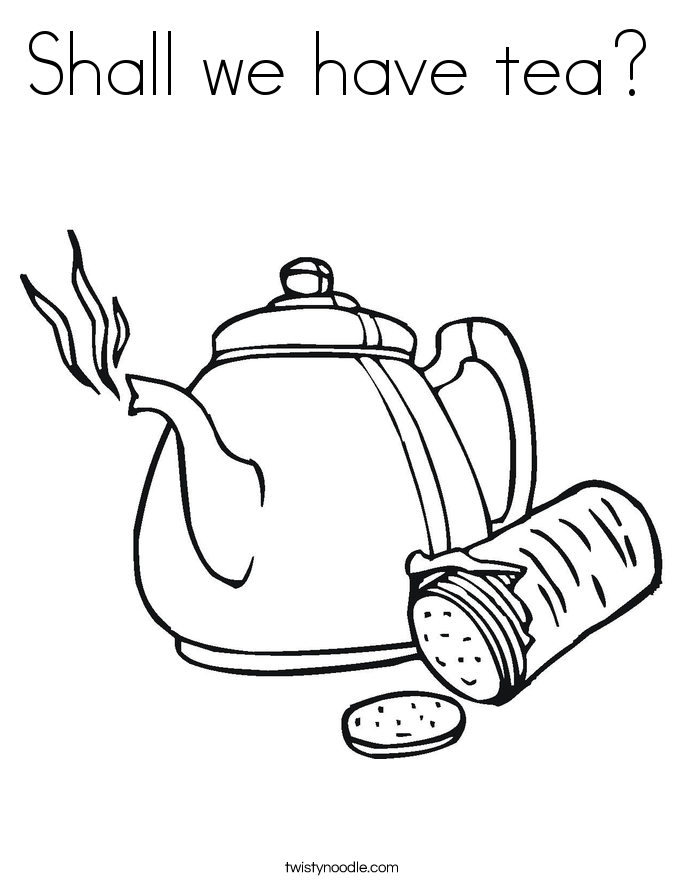 tea coloring pages - photo#13