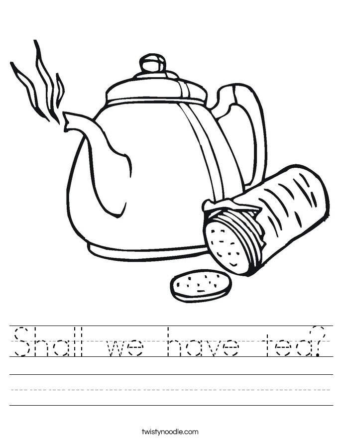 Shall we have tea? Worksheet