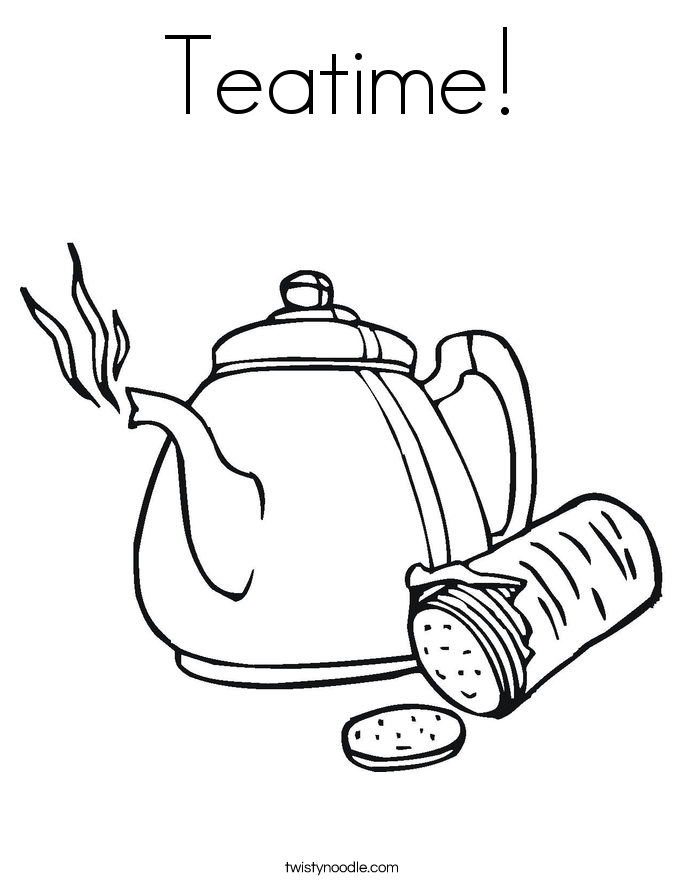 Teatime! Coloring Page