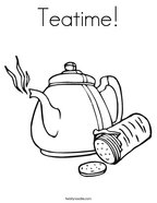 Teatime Coloring Page