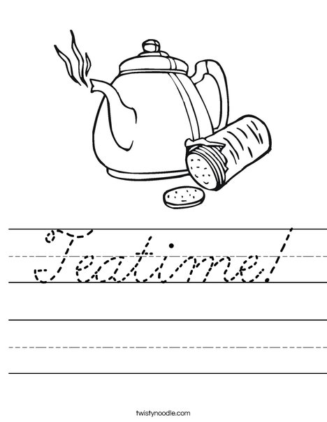Teapot with Crackers Worksheet
