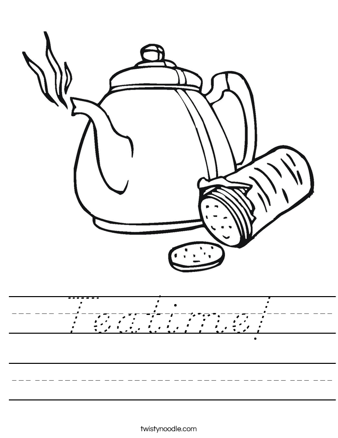 Teatime! Worksheet