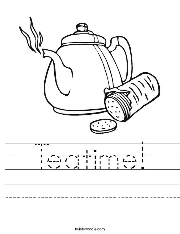 Teatime! Worksheet