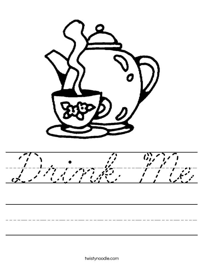 Drink Me Worksheet