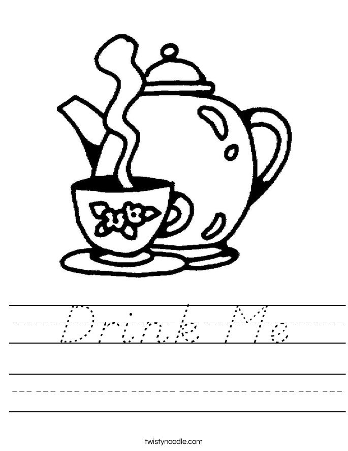 Drink Me Worksheet