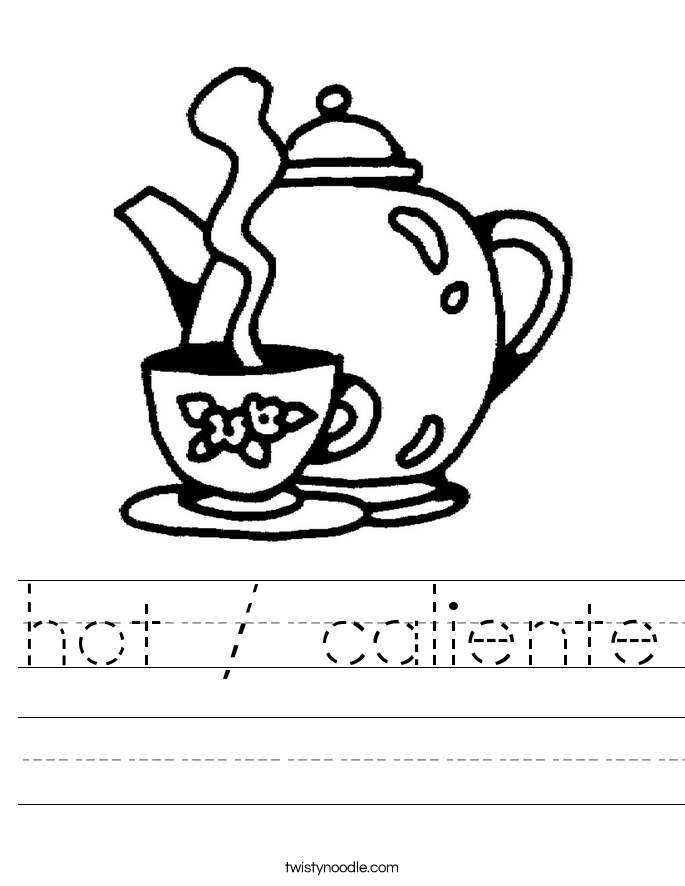 hot / caliente Worksheet
