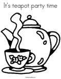 It's teapot party timeColoring Page