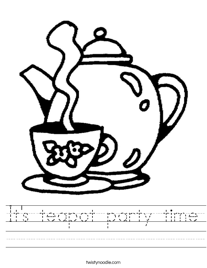 It's teapot party time Worksheet