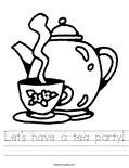 Let's have a tea party! Worksheet
