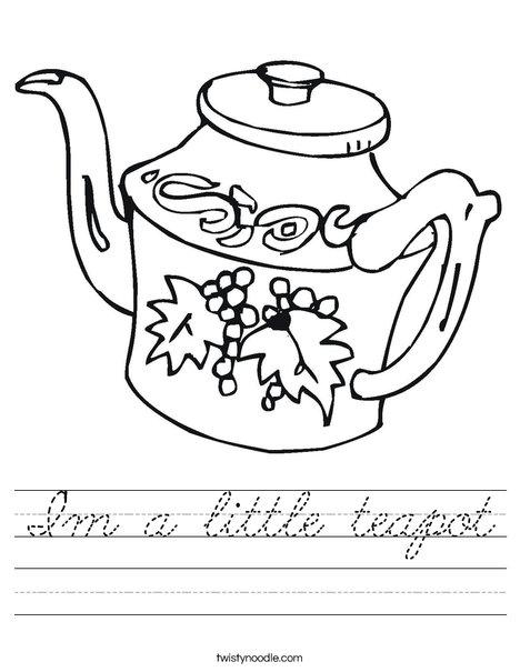 Teapot Worksheet