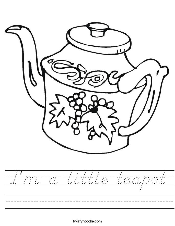 I'm a little teapot Worksheet