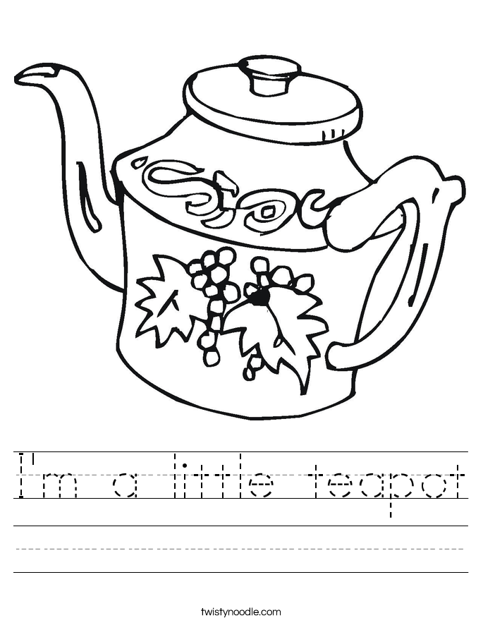 I'm a little teapot Worksheet