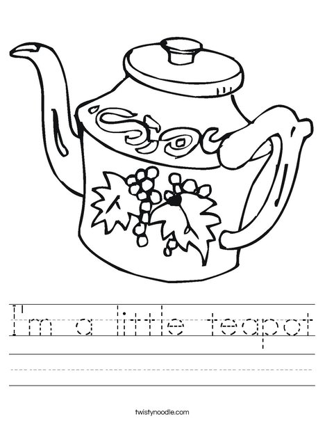 Teapot Worksheet