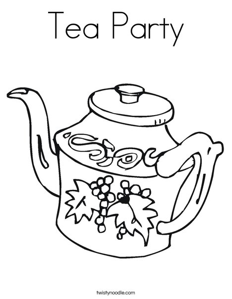 Charmant Teapot Coloring Page