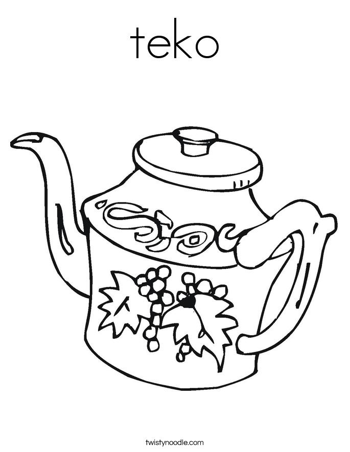 teko Coloring Page