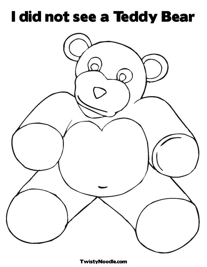 teddy bear heart coloring pages - photo#19