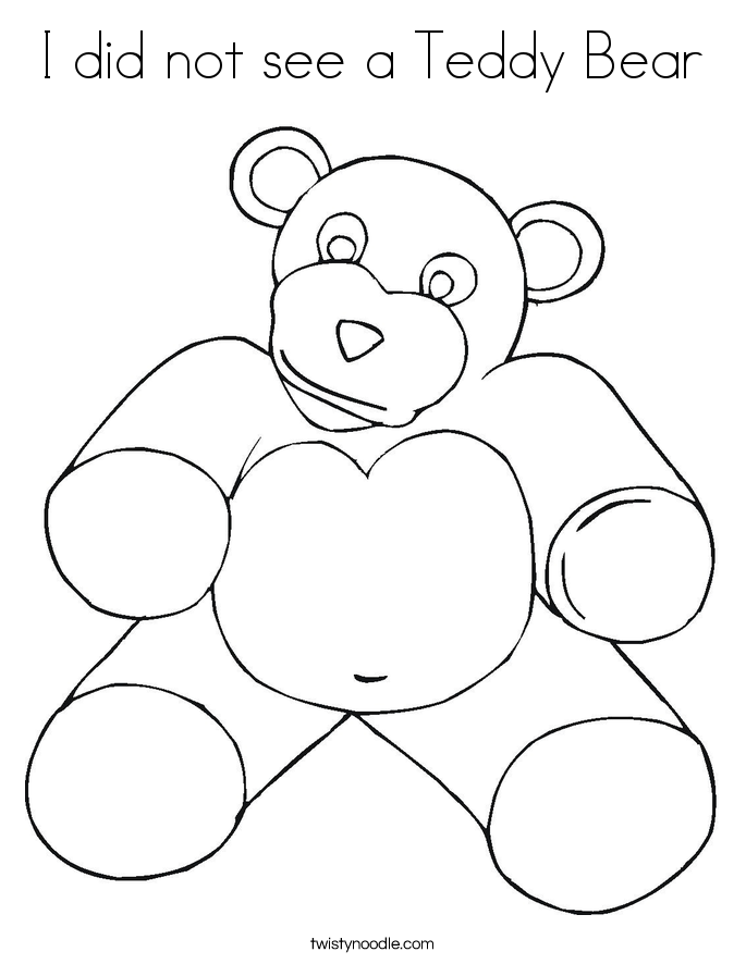 I did not see a Teddy Bear Coloring Page