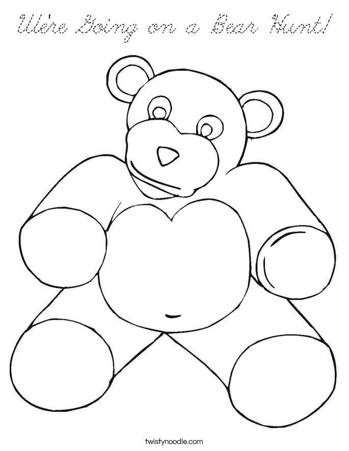 We're Going on a Bear Hunt Coloring Page