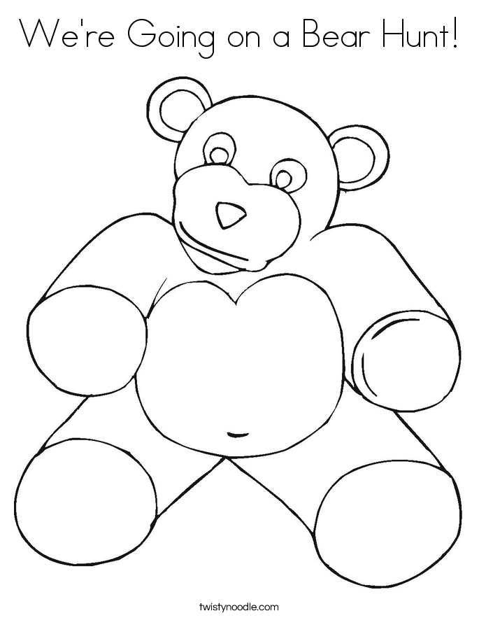 We're Going on a Bear Hunt! Coloring Page