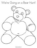 We're Going on a Bear Hunt!Coloring Page