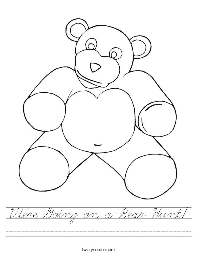 We're Going on a Bear Hunt! Worksheet
