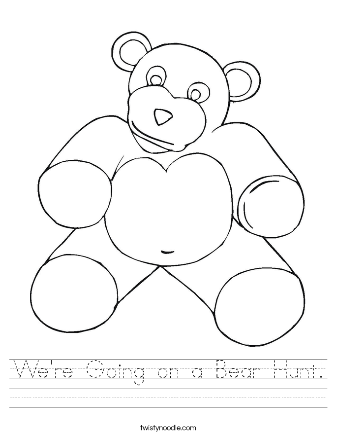 We're Going on a Bear Hunt! Worksheet