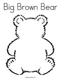 Big Brown Bear Coloring Page