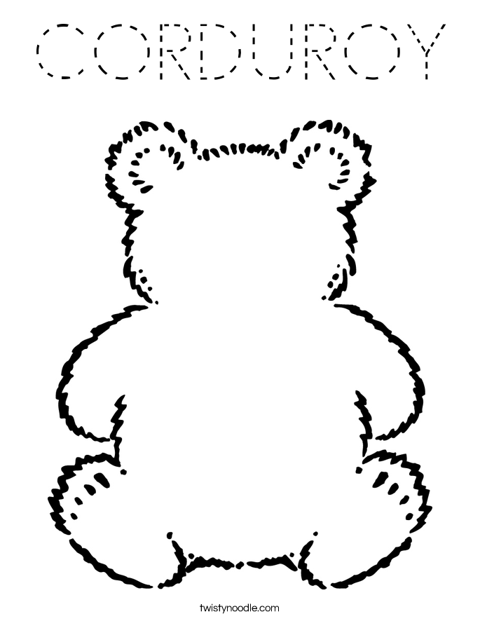 CORDUROY Coloring Page
