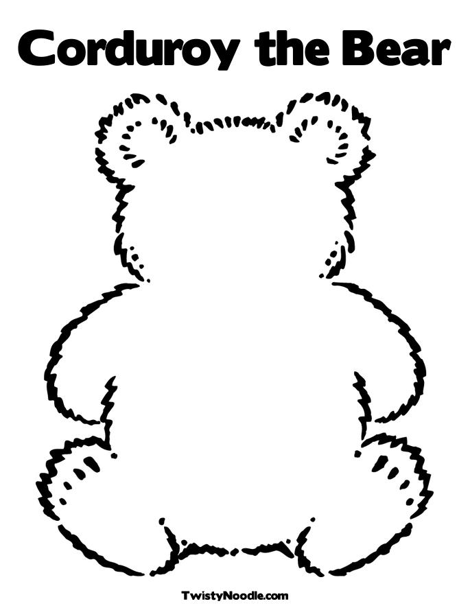 Bear Outline Colouring Pages