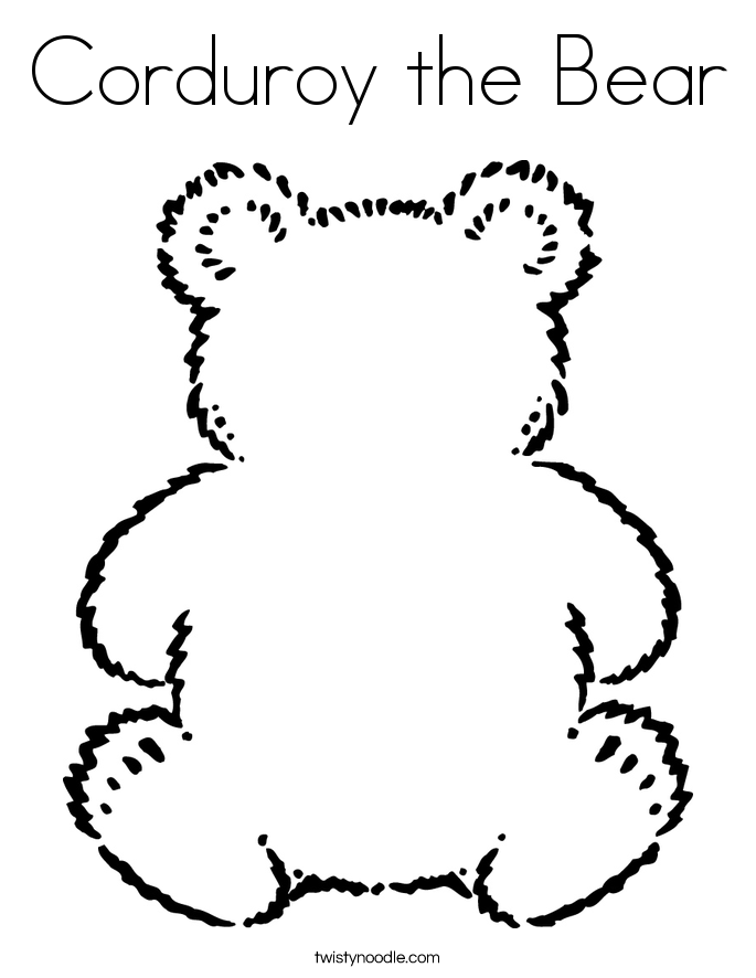 name the bear template - corduroy the bear coloring page twisty noodle