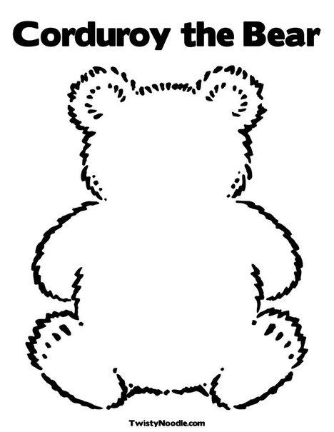 corduroy bear coloring page - kinderpillars july 2012