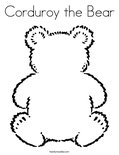 Corduroy the Bear Coloring Page