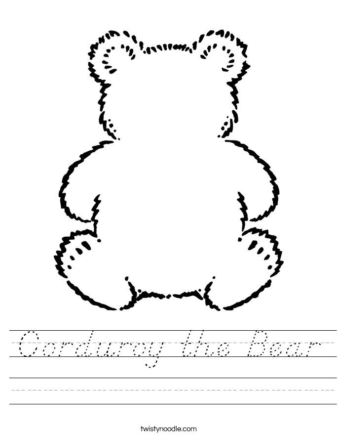 Corduroy the Bear Worksheet