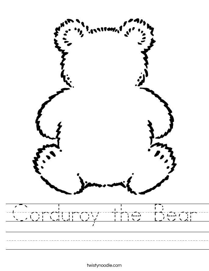 Corduroy the Bear Worksheet