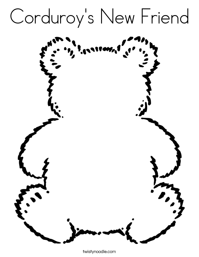 Corduroy's New Friend Coloring Page