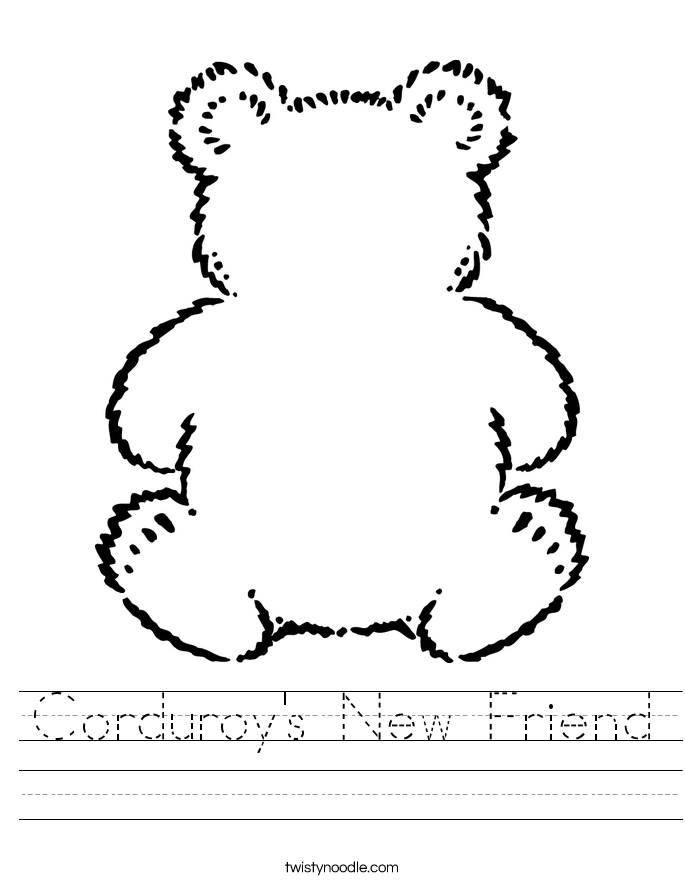 Corduroy's New Friend Worksheet