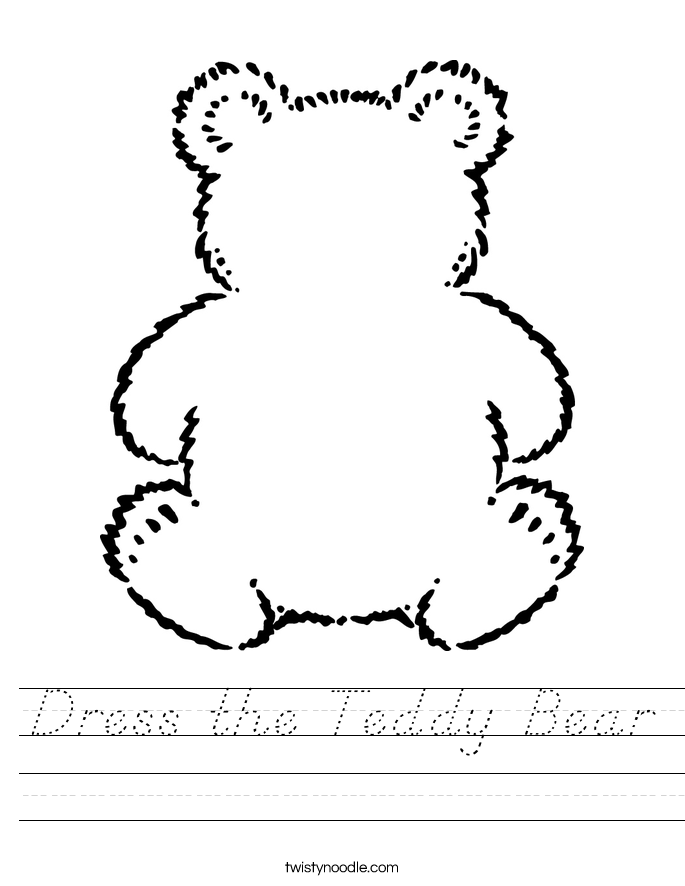 Dress the Teddy Bear Worksheet