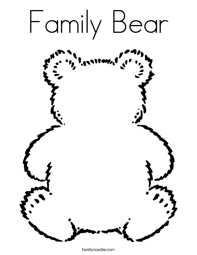 Family Bear Coloring Page