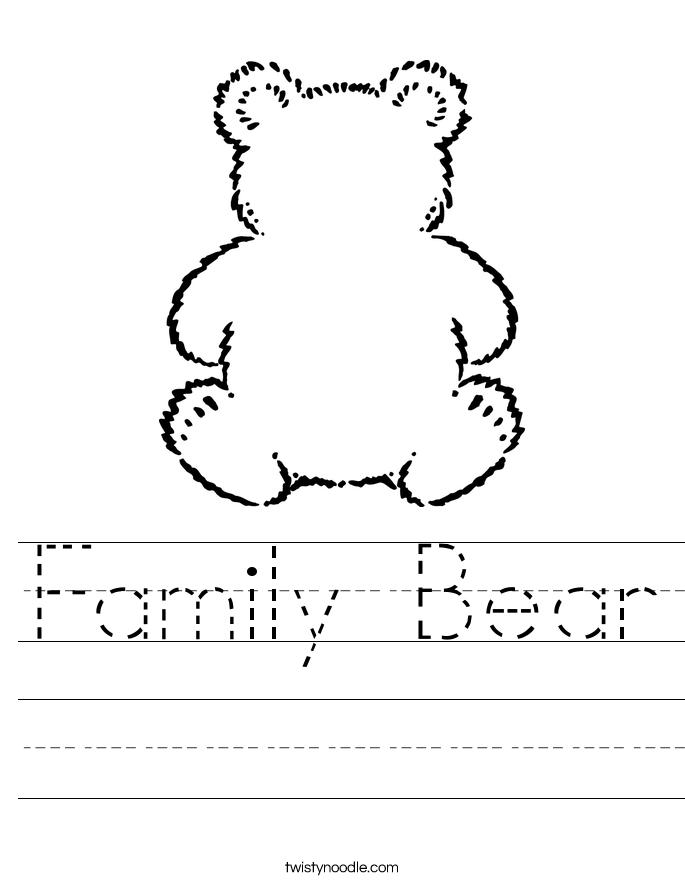 bear worksheets