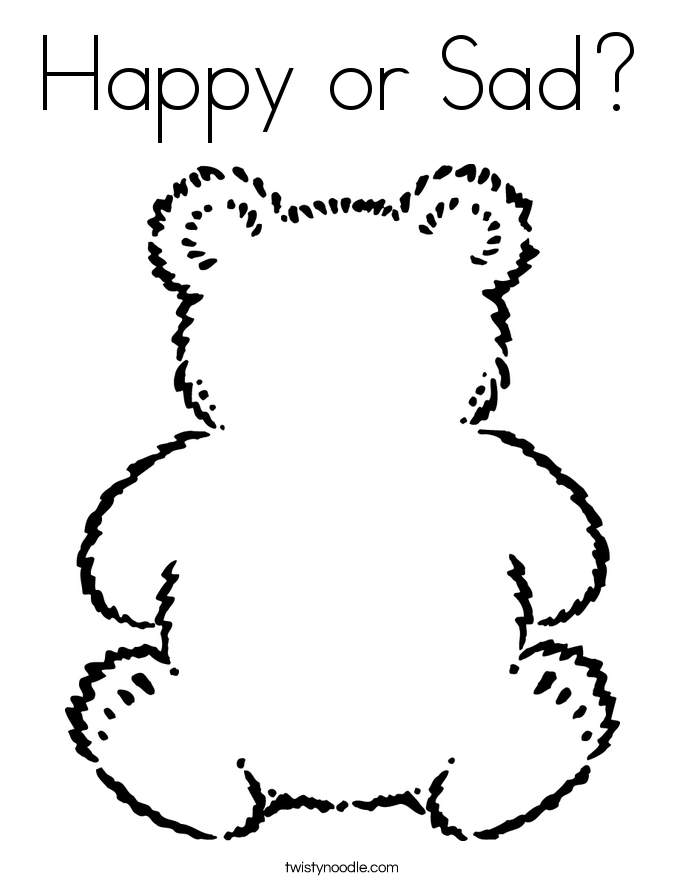 Happy or Sad? Coloring Page