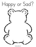 Happy or Sad?Coloring Page