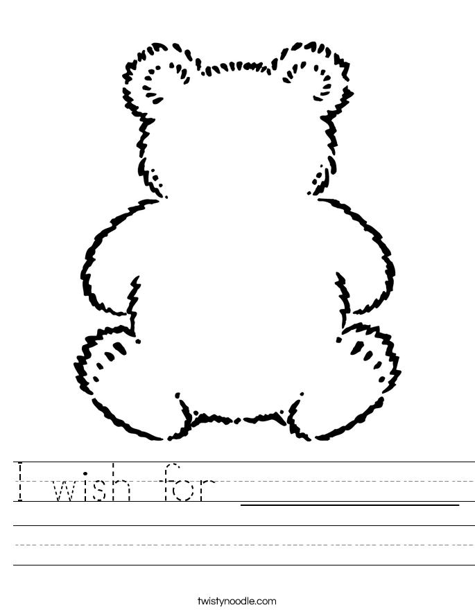 I wish for _________ Worksheet