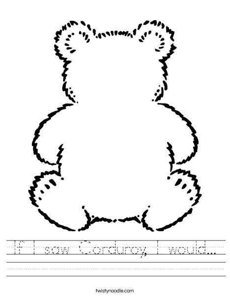 Blank Teddy Bear Worksheet