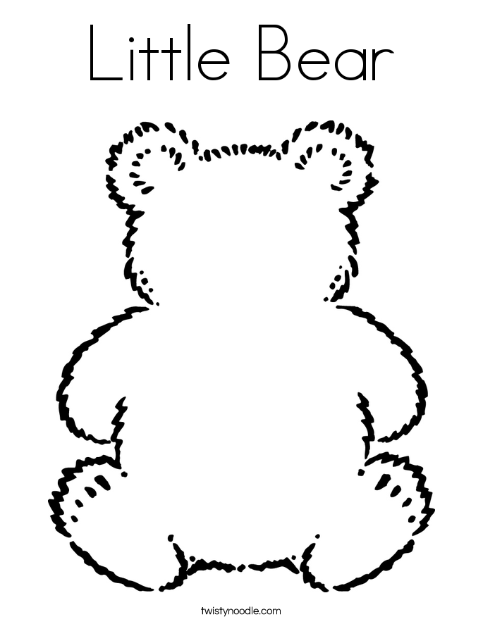 Little Bear Coloring Page