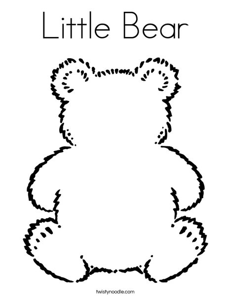 little bear coloring page twisty noodle