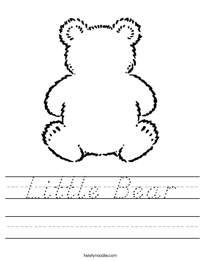 Little Bear Worksheet