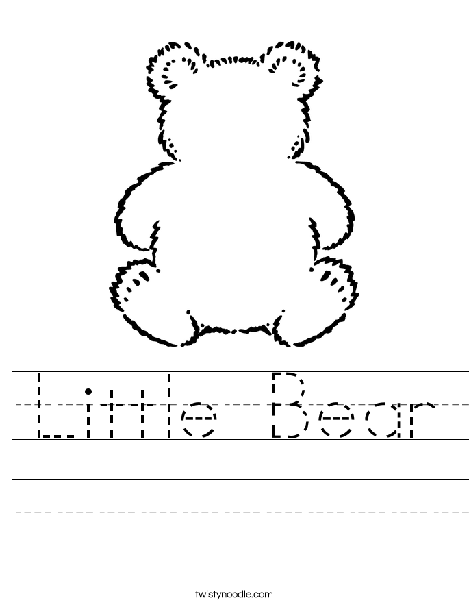 Little Bear Worksheet