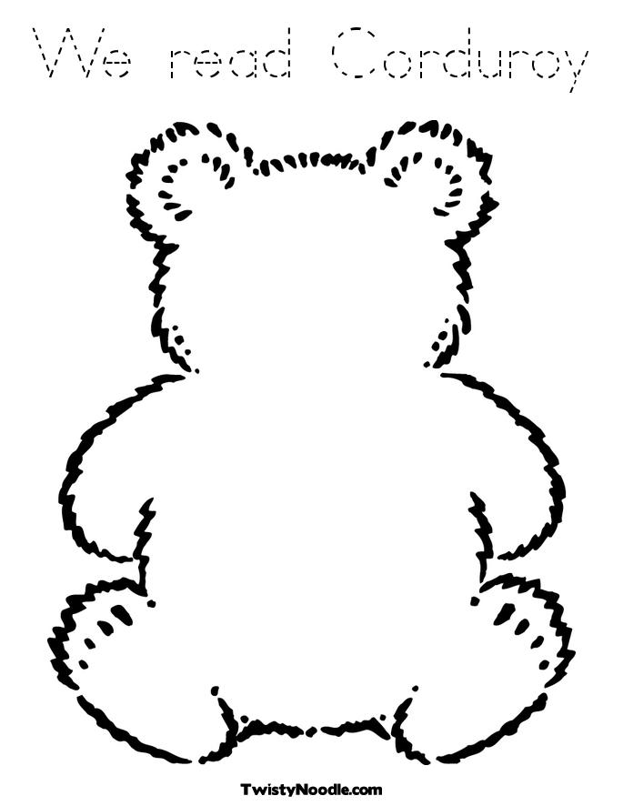 Corduroy Teddy Bear Book Covers Corduroy Coloring Page