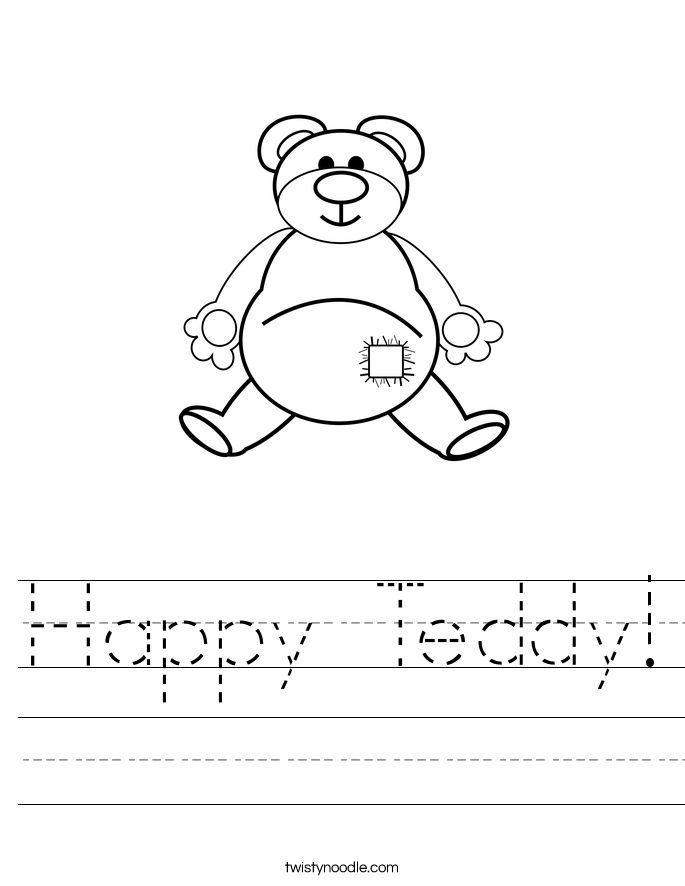 Happy Teddy! Worksheet